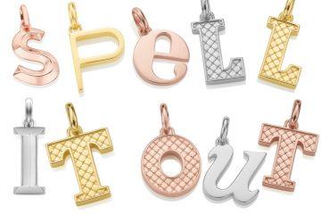 Monica Vinader letter pendants