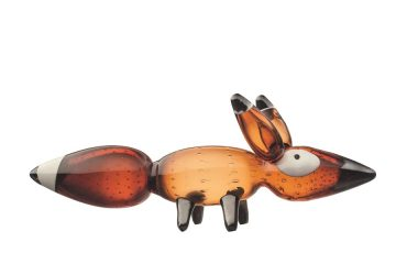 Klaus Haapniemi Vulpes Red Fox Glass Sculpture
