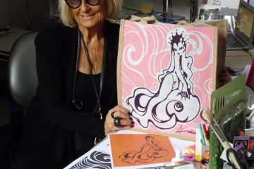 Barbara Hulanicki with Seasalt bag for charity