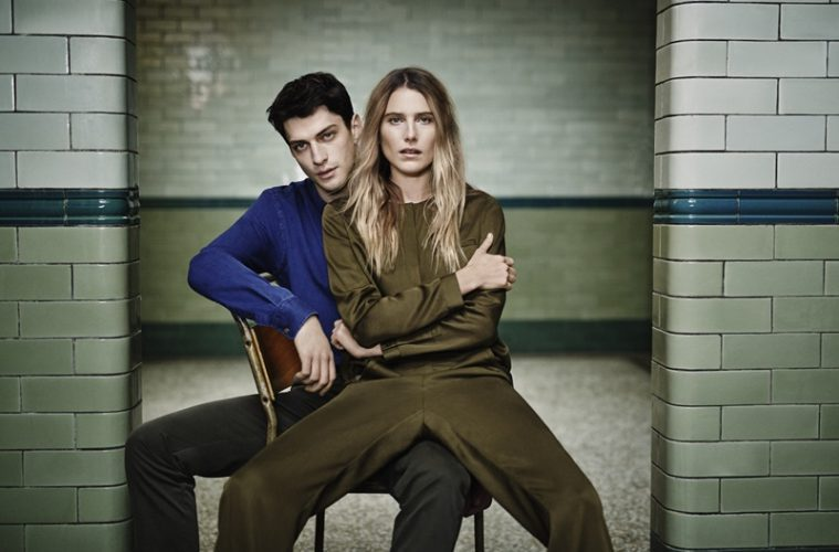 Jaeger SS16 campaign with Dree Hemingway khaki