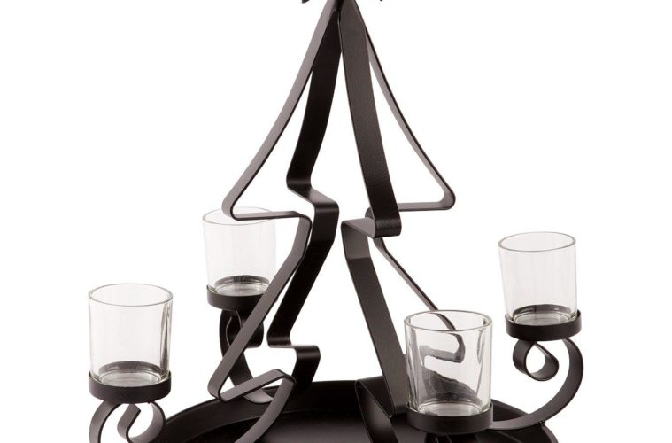 Christmas tree tealight holder