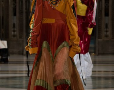 Han Wen AW17 catwalk show at London Fashion Week