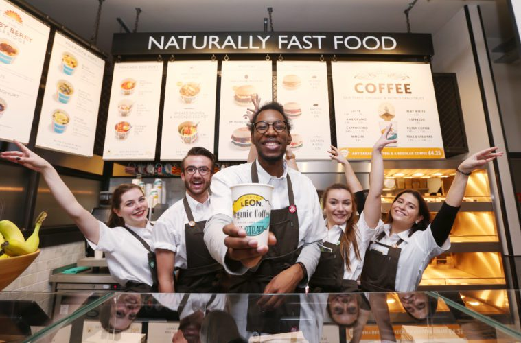 LEON, the naturally fast food chain, opens all-singing restaurant in the West End.